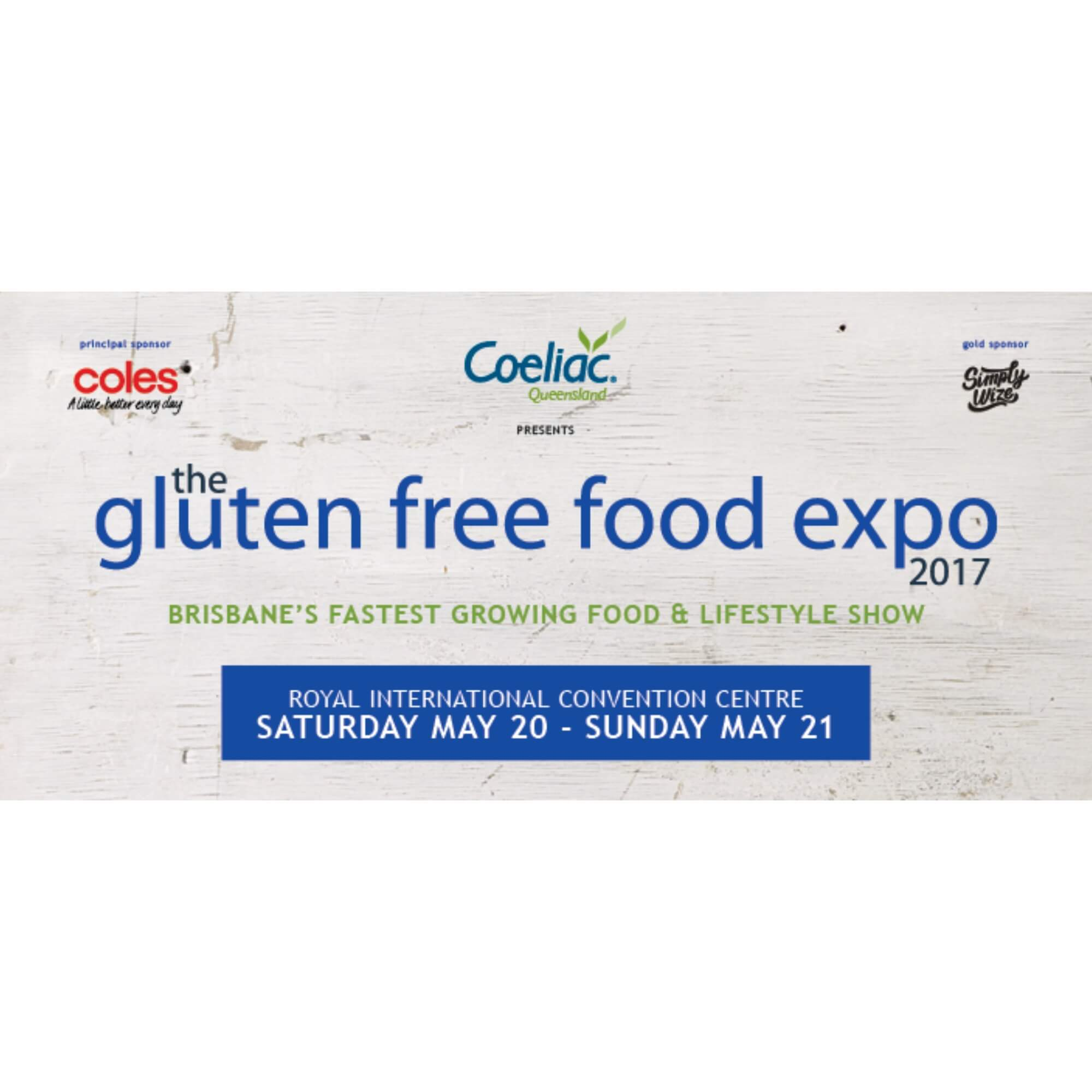 Coeliac Queensland Expo Banner square 2017