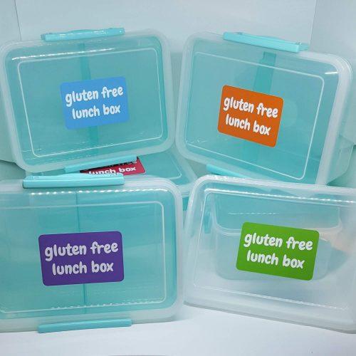 Gluten free lunch box sticker - all colours
