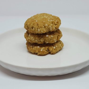 Golden Biscuits on plate