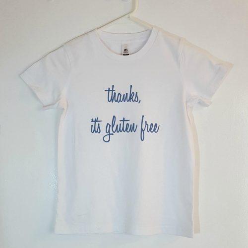 Kids gluten free print t-shirt
