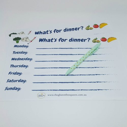 What's for dinner weekly menu planner