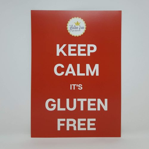 Keep calm it's gluten free poster A4
