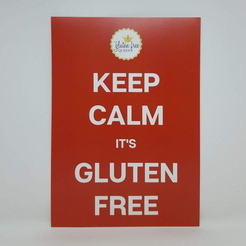 Keep calm it's gluten free poster A4