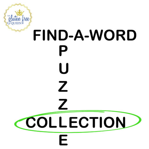 Word search puzzle collection cover - The Gluten Free Queen