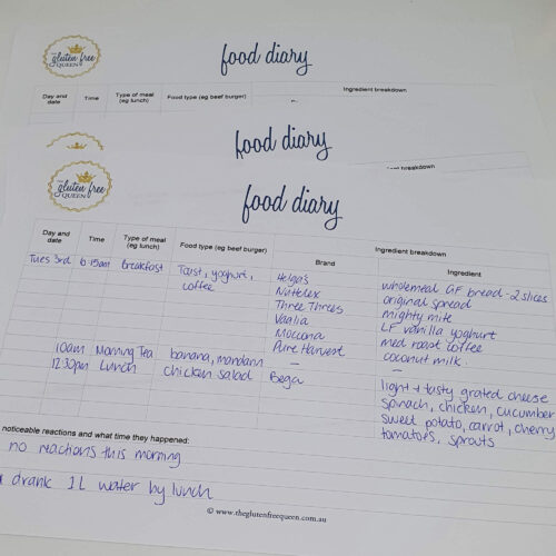 Food diary | The Gluten Free Queen