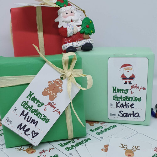 Merry Gluten Free Christmas gift swing tags